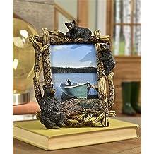 Gift Craft Black Bear Design Photo Frame