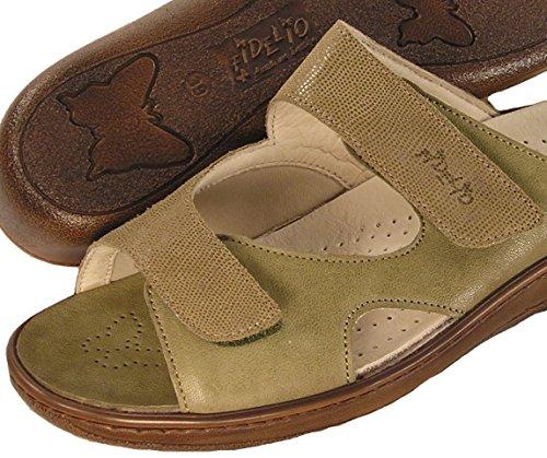 Fidelio Womens Hallux Fabia Bunion Relief Slide Sandal 434013 (Olive/Taupe) 5AhVsdo9