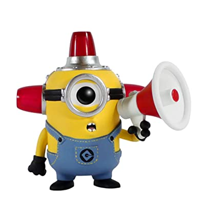 Funko  POP Movies: Despicable Me 2 - Fire Alarm Minion Action Figure: Funko Pop Movies: Toys & Games