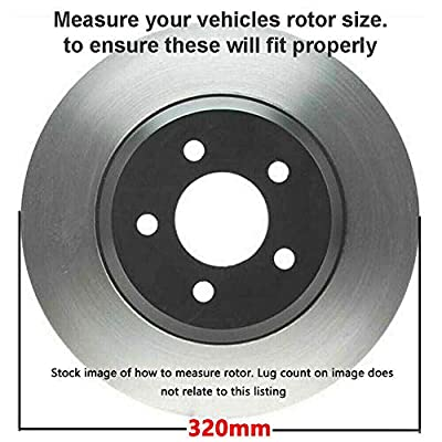 Detroit Axle - Pair (2) Front Disc Brake Kit Rotors w/Ceramic Pads w/Hardware & Brake Kit Cleaner & Fluid for - 2005-2007 Nissan Murano - [2009-2012 Nissan Murano (excluding CrossCabriolet Models)]: Automotive
