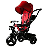 Baybee Elantra 4 in 1 Trolly Cycle - Tricycle with Canopy and Parent Control (R)