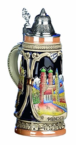 German Beer Stein Munich Stein 0.5 liter tankard, beer mug by KING