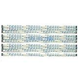 Eztronics Corp® 10 pcs Flexible Flat Cable FFC FPC 0.5mm Pitch Type A Ribbon Cables AWM 20624 80C 60V VW-1 (12 Pins 0.5mm Pitch 150mm)