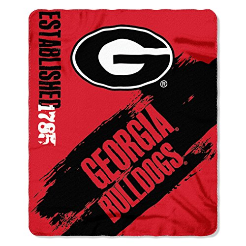 NCAA Georgia Bulldogs Painted Printed Fleece Throw Blanket, 50