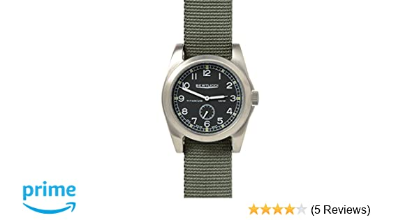 0fcaa16c0570 Amazon.com  Bertucci A-3T Vintage 42 Watch Black Ti-Def Drab Band 13300   Sports   Outdoors