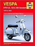 Haynes Service and Repair Manual Vespa P/PX125, 150 & 200