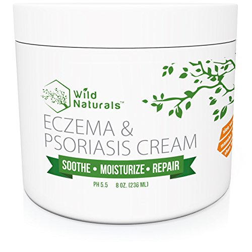 Wild Naturals Eczema Psoriasis Cream - for Dry, Irritated Skin, Itch Relief, Dermatitis, Rosacea, and Shingles. Natural 15-in-1 Formula Promotes Healing and Calms Redness, Rash and Itching Fast (Little Colds Honey Elixir)