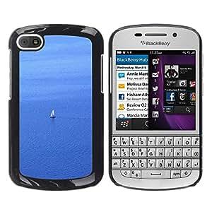 TopCaseStore / la caja del caucho duro de la cubierta de protección de la piel - Sail Sailboat Sailor Water Sea Ocean Sailing - BlackBerry Q10