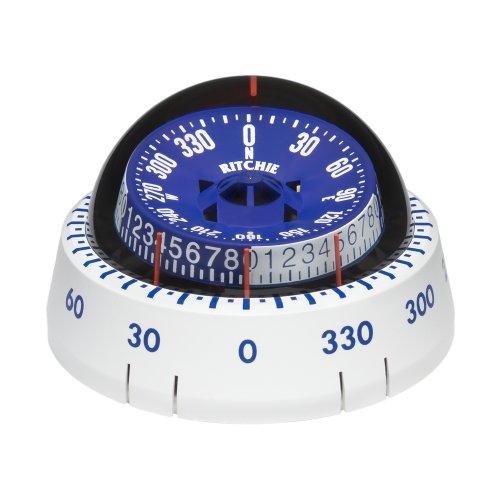 Ritchie Compass Ritchie Xp-98W X-Port Tactician Compass - White (Ritchie Marine Compass)
