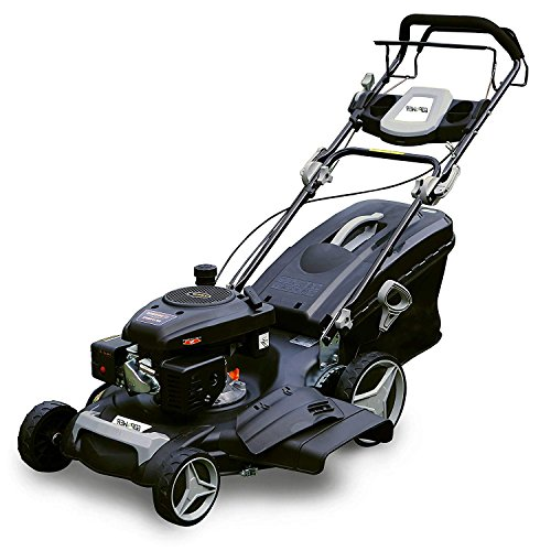 Garden Bean 21 inch 161cc OHV High Wheel Self Propelled Lawn Mower 3-in-1 Gas Powered with 21 Inch Deck and Recoil Start System 10 inch (1 High Wheel)