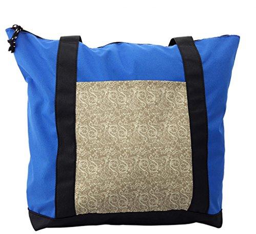 Lunarable Floral Shoulder Bag, Flourishing Long Curvy Stems, Durable with Zipper