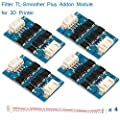 MakerHawk 4pcs TL-Smoother Plus Addon Module 3D Printer Accessories Filter for Pattern Elimination Motor Filter Clipping Filter 3D Pinter Motor Drivers Terminator Reprap MK8 I3
