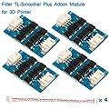 MakerHawk 4pcs TL-Smoother Plus Addon Module 3D Printer Accessories Filter for Pattern Elimination Motor Filter Clipping Filter 3D Pinter Motor Drivers Terminator Reprap MK8 I3