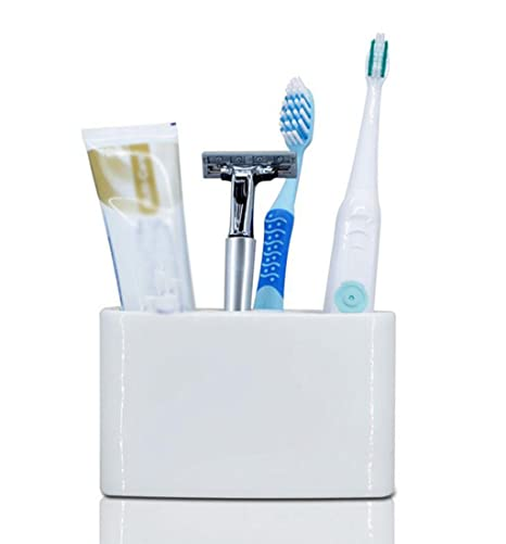 Daeou Porta Cepillo de dientes de cerámica cepillo eléctrico estantes