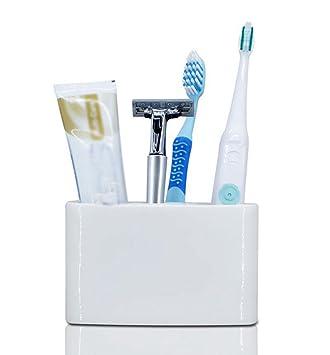 Daeou Porta Cepillo de dientes de cerámica cepillo eléctrico estantes: Amazon.es: Hogar