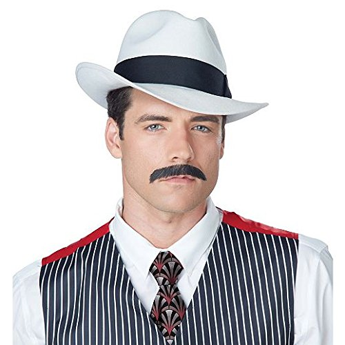 Fancy Face Paint Color Halloween Gangster Mustache