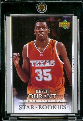 2007-08 Upper Deck First Edition # 202 Kevin Durant RC - NBA Basketball ROOKIE Trading Card in a Protective Display Case 2007 Upper Deck First Edition