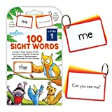 eeBoo 100 Sight Words Flash Cards, Level 1