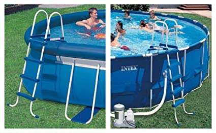 INTEX Above Ground Swimming Pool Ladder w/ Barrier - 48\