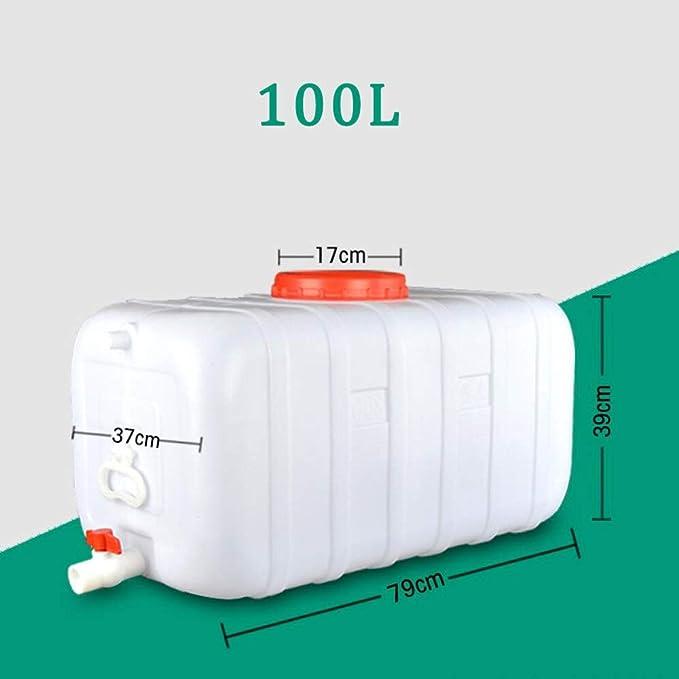 Size : 100L-28x13x15inch Dore Home Cubo De Pl/ástico De Protecci/ón Ambiental De Gran Capacidad 300L Tanque De Almacenamiento De Agua Cuadrado Horizontal Tanque De Agua con Tapa Y V/álvula