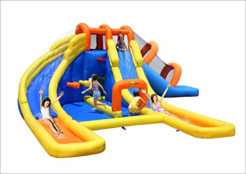 Bounceland Big Splash Dual Slides and Pool Water Park Triple Water Park Slide Splash
