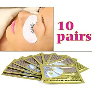 Eyelash Extension Under Eye Gel Pads Lint Collagen Crystal Eylid Patch - 10 Pairs