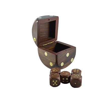 Amazon Com Craftuno Handcrafted Wooden Dice Box Toys Games