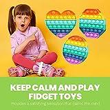 dobboco 3 Pack Push Pop Fidget Toy - Push Pop