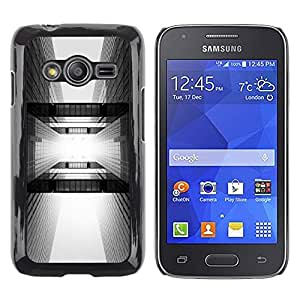LECELL--Funda protectora / Cubierta / Piel For Samsung Galaxy Ace 4 G313 SM-G313F -- Architecture Black White City --