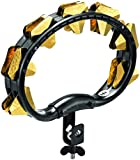 Meinl Percussion STMT2B-BK Plastic Mountable Super Dry Tambourine with Hand Hammered Triangular Brass Jingles