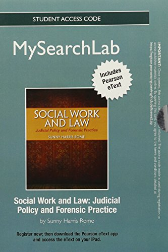 MySearchLab with Pearson eText -- Standalone Access Card -- for Social Work and Law: Judicial Policy and Forensic Practi