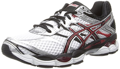 ASICS Men's Gel-Cumulus 16 Running Shoe,White/Black/Red,15 M US