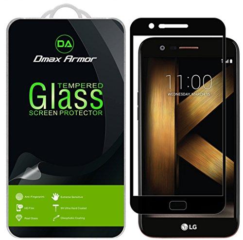 Dmax Armor [2-Pack] for LG K20 V / K20V (Verizon) Screen Protector, (Full Screen Coverage) [Tempered Glass] Anti-Scratch, Anti-Fingerprint, Bubble Free, (Black)