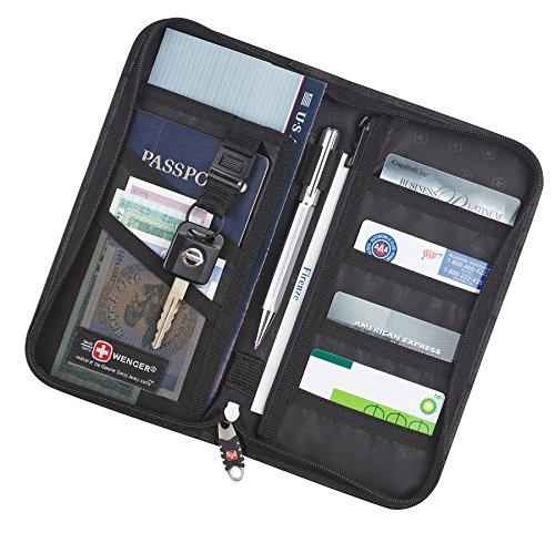 Wenger Wenger leather travel wallet black 9350-64bk