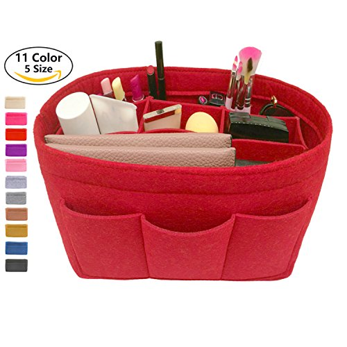 LEXSION Felt Handbag Organizer,Insert purse organizer Fits Speedy Neverfull Red M by LEXSION (Image #1)