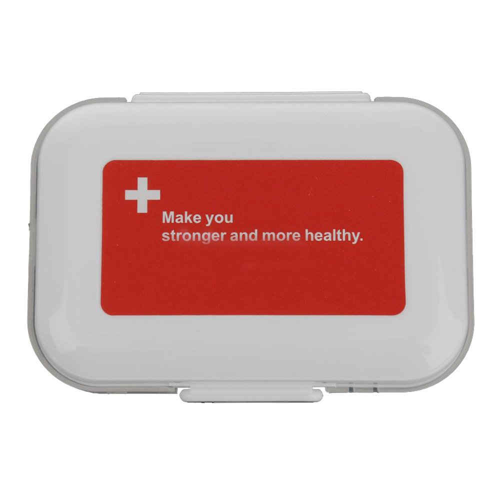 MyLifeUNIT Travel Pill Box, 8 Compartments Pill Organizer, Potable Medication Organizer (Red) 17XJP012-41