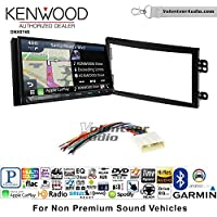 Volunteer Audio Kenwood DNX874S Double Din Radio Install Kit with GPS Navigation Apple CarPlay Android Auto Fits 2003-2005 Nissan 350Z (Without Bose)