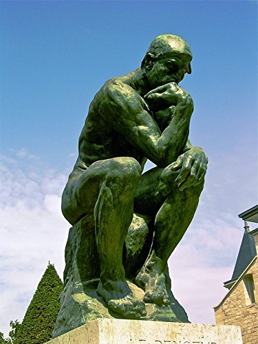 (Home Comforts Peel-n-Stick Poster of 1881-1882 Bronze The Thinker August Rodin Poster 24x16 Adhesive Sticker Poster Print)
