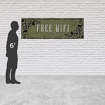 Victorian Gothic Heavy-Duty Outdoor Vinyl Banner Free WiFi 12x4 CGSignLab