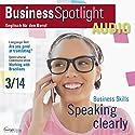 Business Spotlight Audio - How to speak effectively. 3/2014: Business-Englisch lernen Audio - Effizientes Sprechen Hörbuch von  div. Gesprochen von:  div.