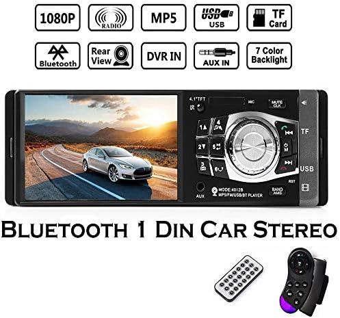 """boomboost車ラジオステレオFM 4.1"""" Bluetooth HD USB / TF / EQホイールコントロールmp3/ mp4プレーヤー"""