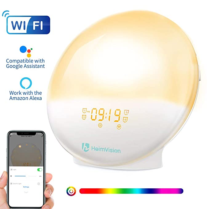 34 opinioni per HeimVision® Wake- Up Light, Smart Sveglie Digitali da Comodino Lampada Notturna