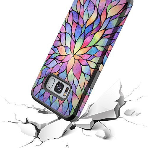 Galaxy S8 Case, GORGCASE [Drop Protection] Dual Layer Graphic Designed Shockproof Hard Hybird Slim Defender Armor Protector Cover for Samsung Galaxy S8 (COLORFUL PETALS) by GORGCASE (Image #5)