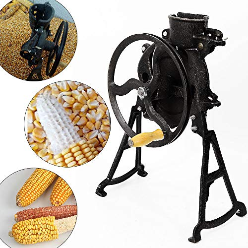 (Easy Hand Corn Sheller, Threshing Rate 98% Hand Shake Dry Corn Thresher Stripping Machine Hand-Crank Separator Sheller for Small Farm and Household)