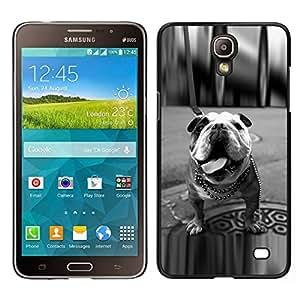 // PHONE CASE GIFT // Duro Estuche protector PC Cáscara Plástico Carcasa Funda Hard Protective Case for Samsung Galaxy Mega 2 / English Bulldog Black White Dog London /