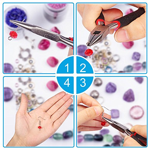 Paxcoo 2400Pcs Earring Making Supplies Kit with 24 Style Earring Hooks, Earring Backs, Earrings Posts and Earring Making Findings for Adult