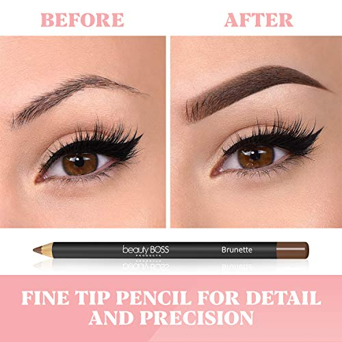 Perfect Eyebrow Pencil Smooth Formula for Bold Fuller and Fluffier Brows (Brunette)
