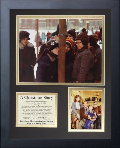 "Legenden Sterben Nie ""A Christmas Story"" gerahmtes Foto Collage, 11 x 35,6 cm von Legends Never Die"