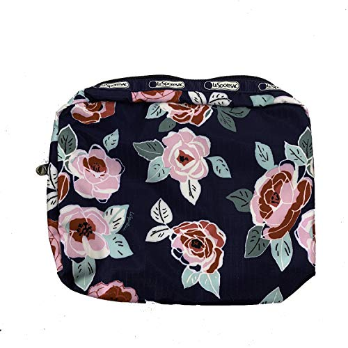 - LeSportsac Extra Large Rectangular and Square Cosmetic Set (Navy Rose)