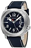 Anonimo Mens Sailor 43 MM Blue Face Date Blue Leather Strap Swiss Mechanical Watch AM200001005A01